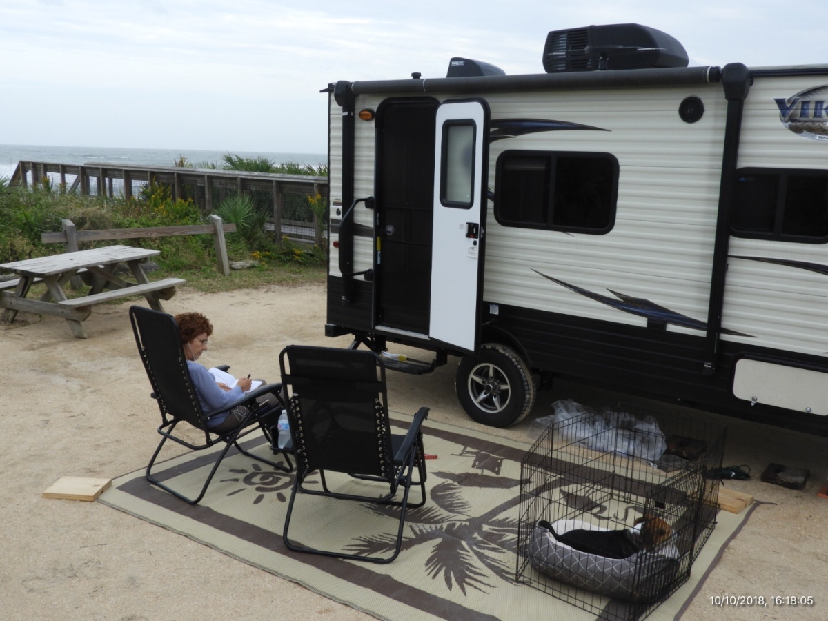 Ocean View Camping at Gamble Rogers
